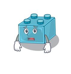 A picture lego brick toys having an afraid face vector