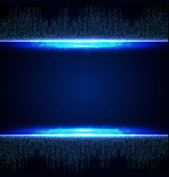 Abstract blue futuristic of square connection vector