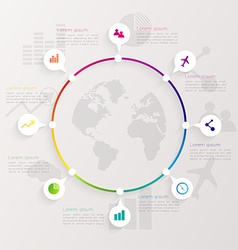 Abstract digital Infographic vector