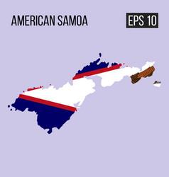 American samoa map border with flag eps10 vector