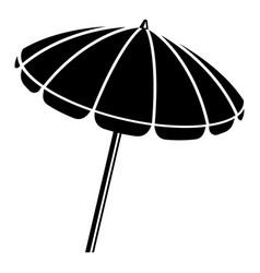 Beach umbrella icon simple style vector