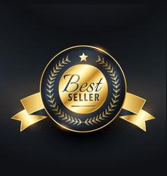 Best seller golden label badge design vector