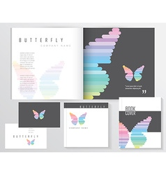 Buttefly template vector image