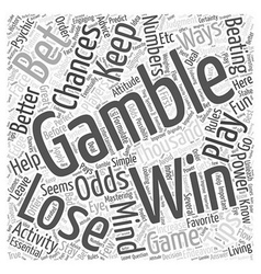 Bwg low risk betting tips word cloud concept vector