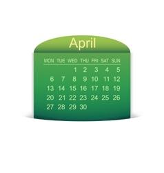 Calendar April 2015 vector image