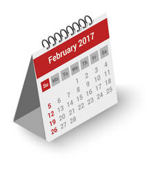 calendar icon isometric style vector image