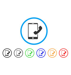 call smartphone rounded icon vector image