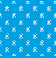 carrot pattern seamless blue vector image