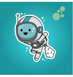 Cartoon astronout vector