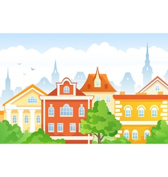 Cartoon town vector image
