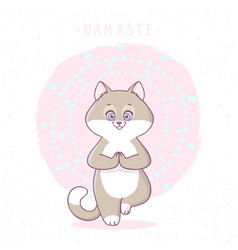 Cat tree asana vector