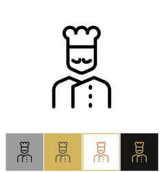 Chef icon restaurant kitchen cook sign vector