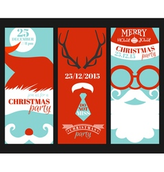 Christmas Retro Party Cards - Photo booth Style vector