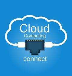 cloud computing concept connected to cloud vector image