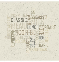 Coffee words poster design template vector