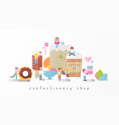 confectionery shop vector image