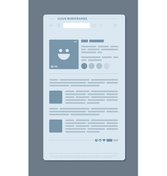 Design of blog page vector