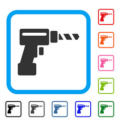Drill framed icon vector