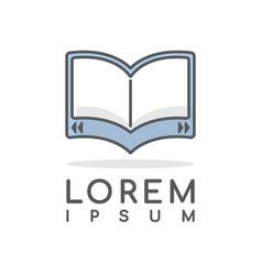 ebook line minimal logo editable stroke vector image