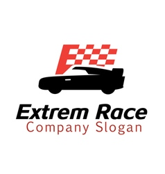 Extrem Race Design vector