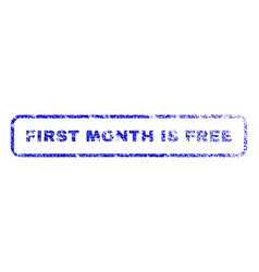 First month is free rubber stamp vector