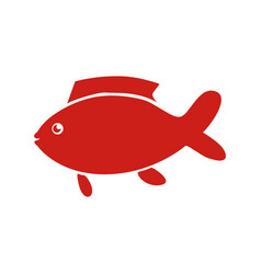 fish sea animal vector image