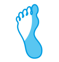 foot icon image vector image