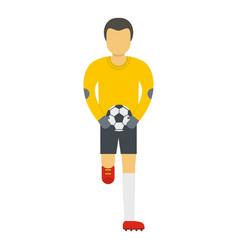 Goalie icon flat style vector