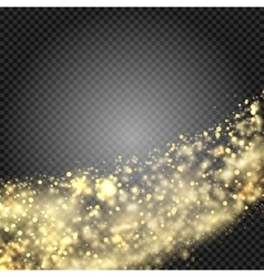 Gold glittering star dust trail sparkling vector image