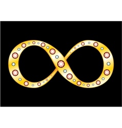 Gold mobius strip vector