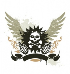 Grunge gang design vector