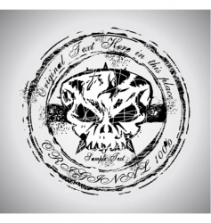 Grunge Halloween skull vector