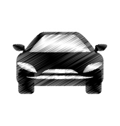 Hand drawing car symbol icon vector