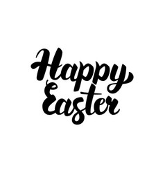 Happy easter handwritten calligraphy vector