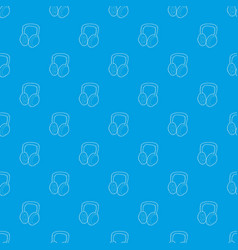 headphones pattern seamless blue vector image