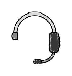 Headset icon image vector