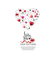 I love you design with heart shape from love vector