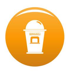 Ice creme trade point icon orange vector