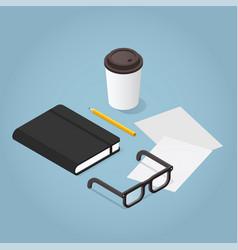 Isometric journaling concept vector