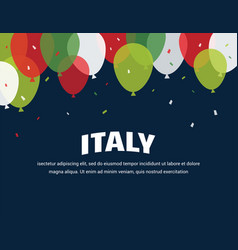 italian independence day celebration second of vector image