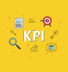 key performance indicator vector image