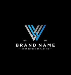 Letter vv colorful logo design vector