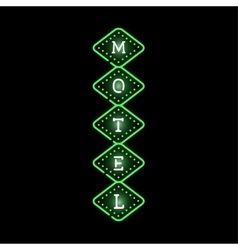 Light neon motel label vector