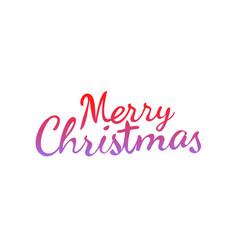 merry christmas calligraphic logo isolated on vector image