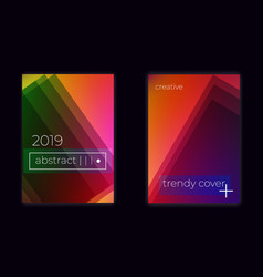 modern geometric gradient mesh cover set vector image