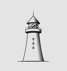 nautical concept with lighthouse vector image