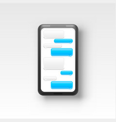 phone text message chat frame screen mobile vector image