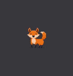 Pixel art fox vector