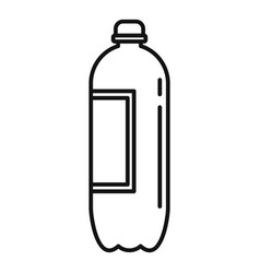 Plastic bottle icon outline style vector