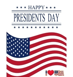 Presidents Day Greeting card with symbols vector